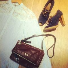 Paul and joe shirt, d and g clutch, Hobbs shoes