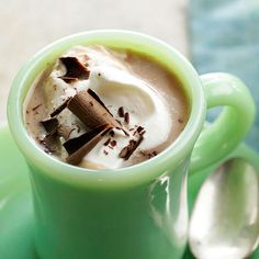 Try using coconut milk for a unique flavor in traditional hot cocoa: http://www.bhg.com/recipes/drinks/seasonal/winter-drink-recipes/?socsrc=bhgpin091714coconuttreslecheshotchocolate&page=10