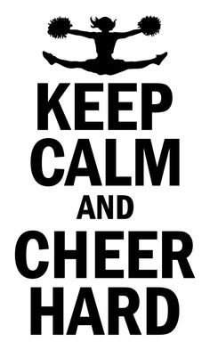 Keep Calm And Cheer Vinyl Wall Decal by DecalsByAaron on Facebook. Any size, any color.