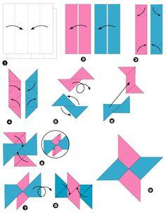 Diagramme d'origami d'hélice