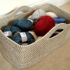 Crochet Rope Basket | Make My Day Creative
