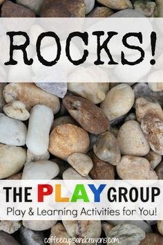 18 Rock Themed Activities for Kids: Learn, play, and create with rocks. Rocks rock!
