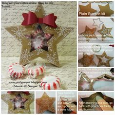 Just Sponge It: Many Merry Stars with a Twist!  Great tutorial for putting treats inside the star boxes.