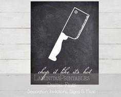 Decoracion cocina lamina cocina cuchillo por LaminitasPrintables