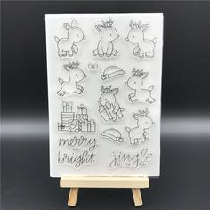 Stamp Cartoon Reindeer & Gifts Set Ali Express