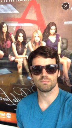 Ian Harding (Ezra) as tuesday's post on pretty little liars Snapchat