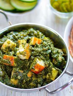 Veggie Recipes, Indian Food Recipes, Beef Recipes, Vegetarian Recipes, Chicken Recipes, Cooking Recipes, Saag Paneer Recipe, Paneer Recipes