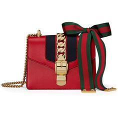 Gucci Sylvie Leather Mini Chain Shoulder Bag