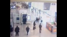 VIDEO: CCTV footage shows the moment a man attacked and tried to grab a gun from an army patrol at Paris' Orly airport, before he was shot dead. (Video: APTN)