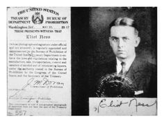 size: Giclee Print: Prohibition Agent Id Card of Eliot Ness Dated May, 1927 (Litho) by American : Mafia, Eliot Ness, Real Gangster, Crooks And Castles, Family Photo Album, We The People, Printing Process, American History, Liquor