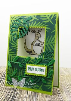 Nicole Wilson Independent Stampin' Up! Fun Fold Cards, Folded Cards, Kids Cards, Baby Cards, Kids Birthday Cards, This Little Piggy, Animal Cards, Pretty Cards, Stamping Up
