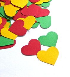 Rasta Colors  Red Green and Yellow Hearts   by KnockOutPunches, $8.00 70th Birthday Parties, Dad Birthday, Red Green Yellow, Green Colors, Light Colors, Jamaican Party, Jamaican Wedding, Rasta Wedding, Carribean Party