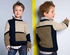 Baby Boy Knitting Patterns, Knitting For Kids, Knit Patterns, Baby Knitting, Knit Baby Sweaters, Boys Sweaters, Kids And Parenting, Kids Outfits, Kids Fashion