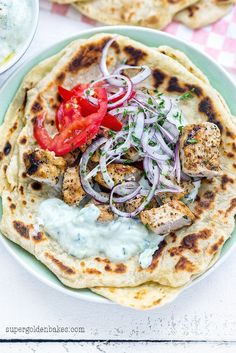 Greek pork souvlaki with tzatziki and homemade pitta bread | supergolden bakes: