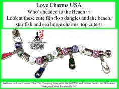 Cute flip flop european charm bracelet!!