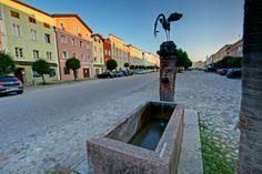 Storch Tittmoning Stadtplatz