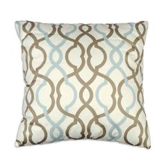 "Waverly 16"" x 16"" Makes Waves Latte Decorative Pillow"