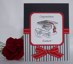 Since this card is red, black and white, it can be given to a boy or girl and makes a great college or high school graduation card. Description from card-making-corner.com. I searched for this on bing.com/images