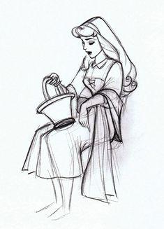 Rough sketch of Aurora - Marc Davis
