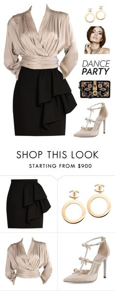 """""""Untitled #385"""" by maylamartha ❤ liked on Polyvore featuring Yves Saint Laurent, Chanel, René Caovilla and Dolce&Gabbana"""