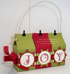 Trinity Designs: Mini Milk Carton Christmas Ornament