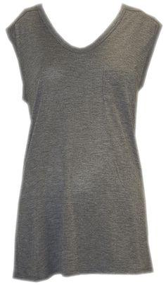 Grey Long Sleeveless T-Shirt - Alexander Wang  http://www.room7.co.uk/what-s-new/alexander-wang-grey-long-sleeveless-t-shirt.html