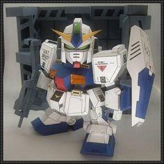 SD RX-78NT-1 Gundam Alex Ver.12 Free Paper Model Download - http://www.papercraftsquare.com/sd-rx-78nt-1-gundam-alex-ver-12-free-paper-model-download.html