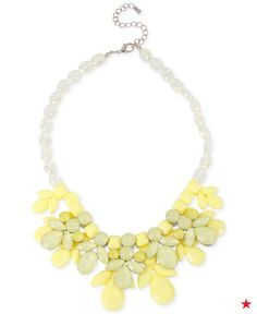 Some eye-catching color is all your need to complete your Sunday brunch look. This yellow necklace can pair with almost any color dress to add a touch of spring to your ensemble.