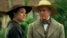 Daniela Denby-Ashe (Margaret Hale) & Brian Protheroe (Mr. Bell) - North & South directed by Brian Percival (TV, Mini-Series, BBC, 2004) #elizabethgaskell