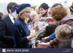Princess Diana North East of England Visit.