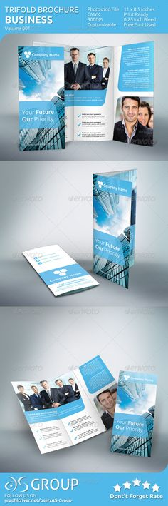 Business Tri-fold Brochure - v001