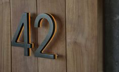 """Illuminated Bronze House Numbers 8"""" - Outdoor Backlit Signs - modern - house numbers - los angeles - by Surrounding - Modern Lighting & Furn..."""