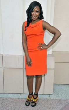 Tichina Arnold looked about ten years younger in this orange pencil dress Black Is Beautiful, Most Beautiful, Tichina Arnold, Black Women, Sexy Women, Pencil Dress, Role Models, Rihanna, My Girl