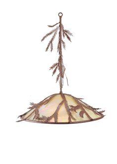 """22""""W Pine Branch Pendant"""