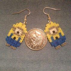 Minions Earrings perler beads by AteBits