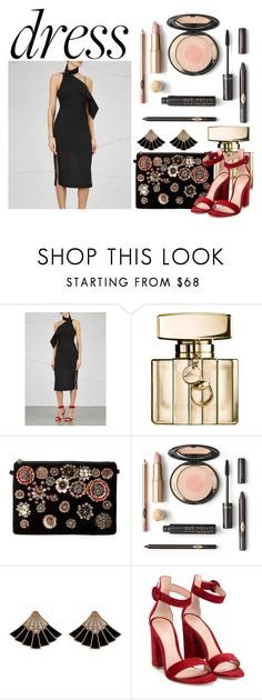 """""""Choker Dresses"""" by lululafitte ❤ liked on Polyvore featuring Keepsake the Label, Gucci, Steve Madden and Gianvito Rossi"""