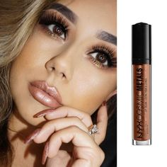 NYX Cosmic Metals Lip Cream in Retro Harmony is a deliciously rich lip cream that combines the pigment of a lipstick with the moisturized feeling of a gloss. Metallic Lipstick, Brown Lipstick, Matte Lipstick, Makeup To Buy, Kiss Makeup, Best Drugstore Lipstick, Shimmer Lip Gloss, Lip Cream, Lips