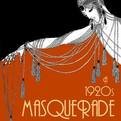 Thinking about throwing a 1920s inspired masquerade for Mardi Gras this February?! If so, we have the perfect printable invites for you: a Vogue fashion cover from this era featuring a lady with a Venetian mask! We also have Erte fashion art as seen here.