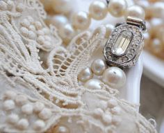 vintage pearls and lace - Google Search