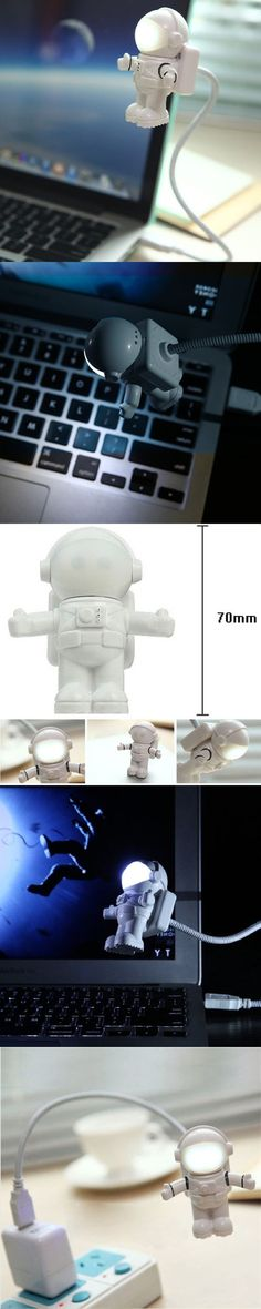 Hot Sale Creative Astronaut Spaceman USB LED Adjustable Night Light For Computer PC Lamp Flexible USB LED Lamp