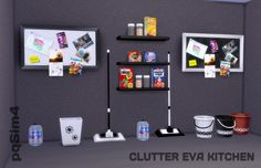 Clutter Eva Kitchen at pqSims4 via Sims 4 Updates
