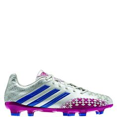 adidas Predator Absolado LZ TRX FG Running White/Pride Blue/Blast Pink Women's Soccer Cleats - model G95097- Only $62.99