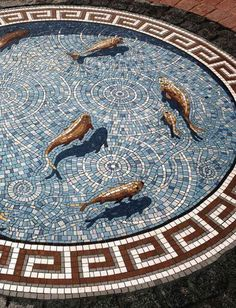 Fish Mosaic - At first glance it looks like fish swimming in a Stargate!