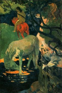'The White Horse', 1898 - Paul Gauguin