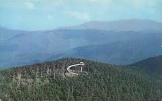 Clingmans Dome is protected as part of the Great Smoky Mountains National Park. A paved road, closed in winter (December 1 through March 31),[3] connects it to U.S. Highway 441 (Newfound Gap Road). The concrete observation tower, built in 1959, offers a panoramic view of the mountains in every direction. An air quality monitoring station, operated by the Environmental Protection Agency, is the second highest in eastern North America.