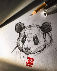 Psdelux is a pencil sketch artist based in Tatabánya, Hungary. He usually draws animal sketches. Psdelux also makes digital drawings. Pencil Art Drawings, Art Drawings Sketches, Cool Drawings, Tattoo Drawings, Panda Sketch, Panda Drawing, Animal Sketches, Animal Drawings, Van Gogh Watercolor