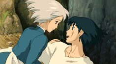 Screencap Gallery for Howl's Moving Castle Bluray, Studio Ghibli). A love story between an girl named Sofî, cursed by a witch into an old woman's body, and a magician named Hauru. Studio Ghibli Films, Art Studio Ghibli, Hayao Miyazaki, Sophie Howl's Moving Castle, Howl's Moving Castle Movie, Howls Moving Castle Wallpaper, Howl Pendragon, Howl And Sophie, Animation