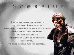 #farscape What can I say, for a guy in a gimp suit, Scorpius is awesome