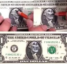 Drawing on a dollar