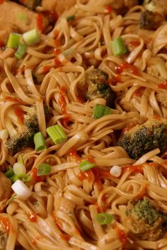 If you've just been making chicken and broccoli with rice, you haven't seen anything yet - Sriracha Chicken and noodles.